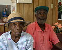 Ned and Lillian Kennedy of Salt Cay - photo by Michele McNair - all rights reserved.