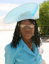 Rosalie Glinton of Salt Cay - photo by Michele McNair - all rights reserved.